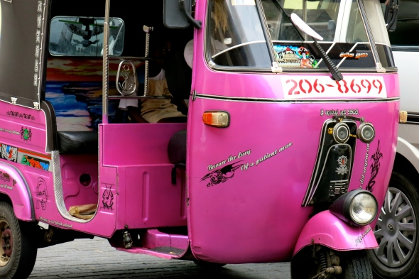 Very wise, pink Tuk Tuk
